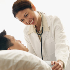 An image of Doctor with patient